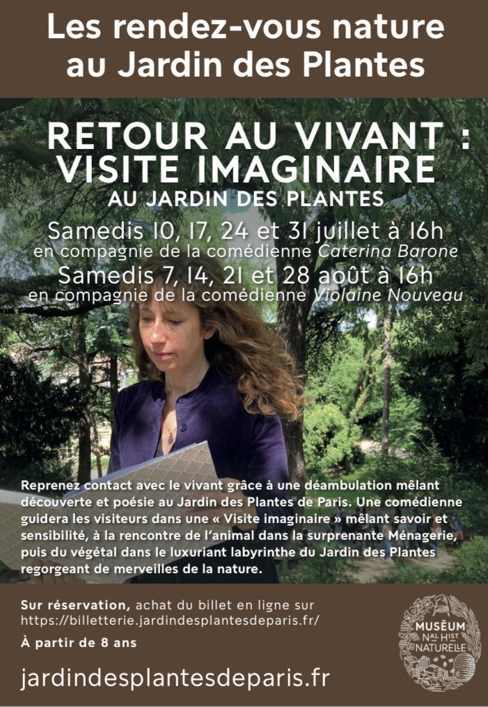 Retour au vivant : visite imaginaire au Jardin des Plantes